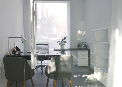 office with table chairs and lamp