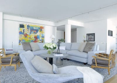 Chaise with Living Room