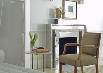 Bench Overlooking Fireplace
