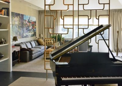 Den with Piano